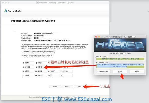 AutoCAD2019mac AutoCAD2019mac注册机激活码