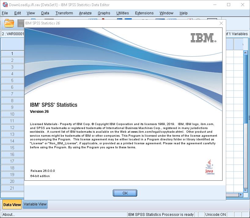 IBM SPSS Statistics26.0 SPSS