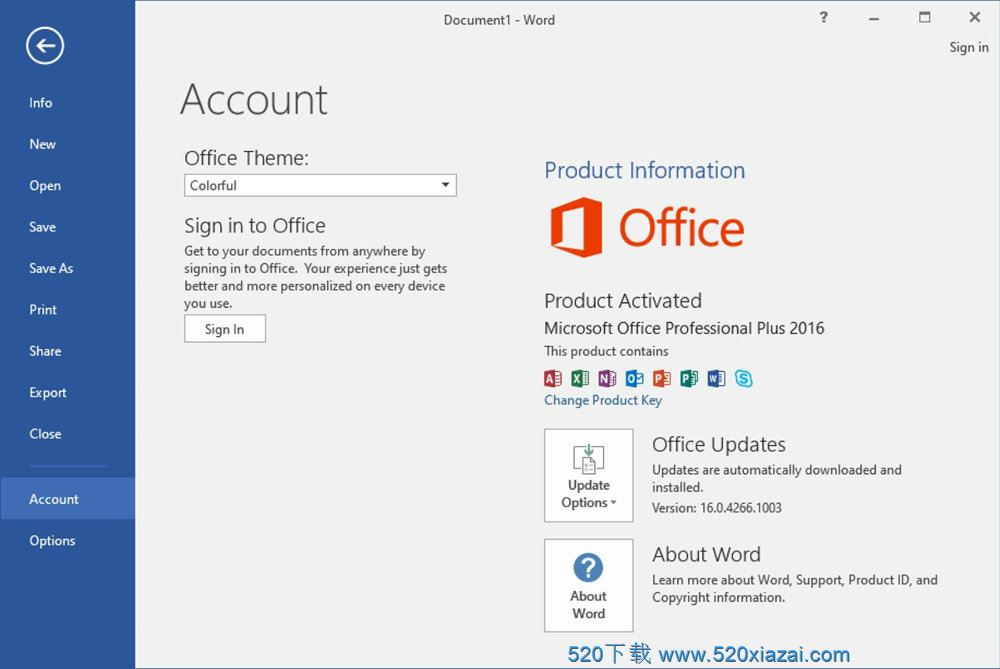 Office2016英文破解版 Office2016 64位下载