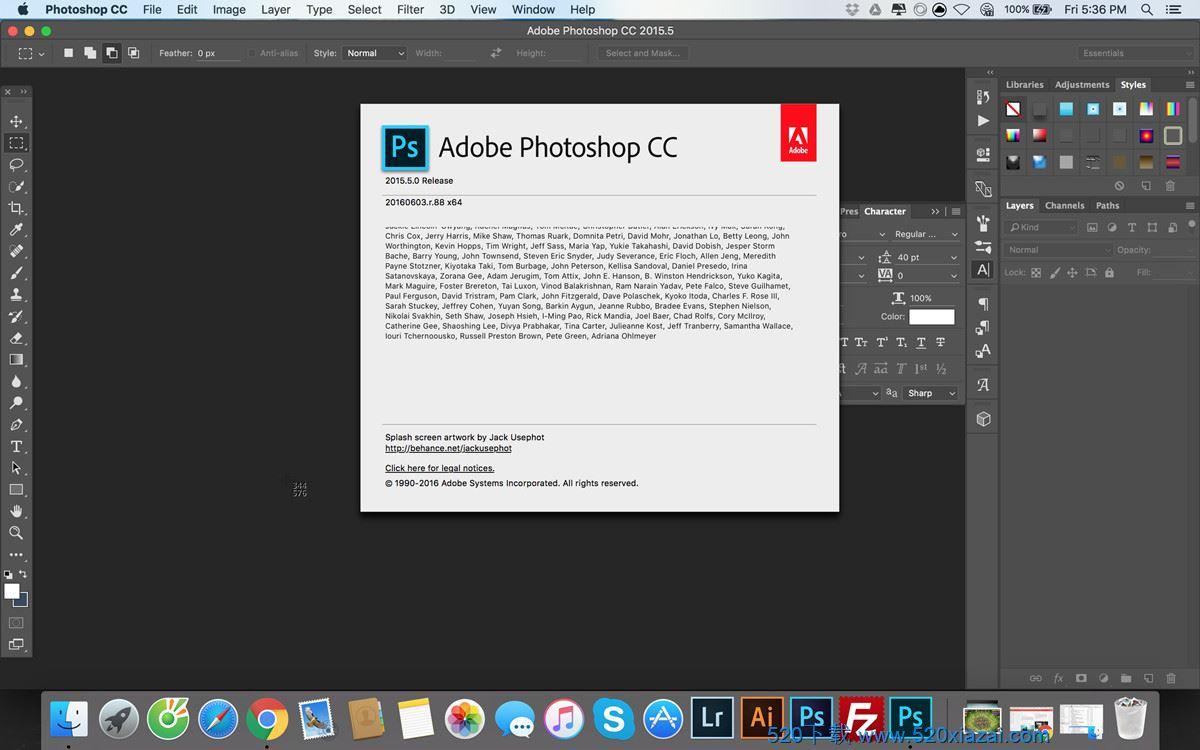 Adobe Photoshop 2018 for Mac 破解特别版免费下载