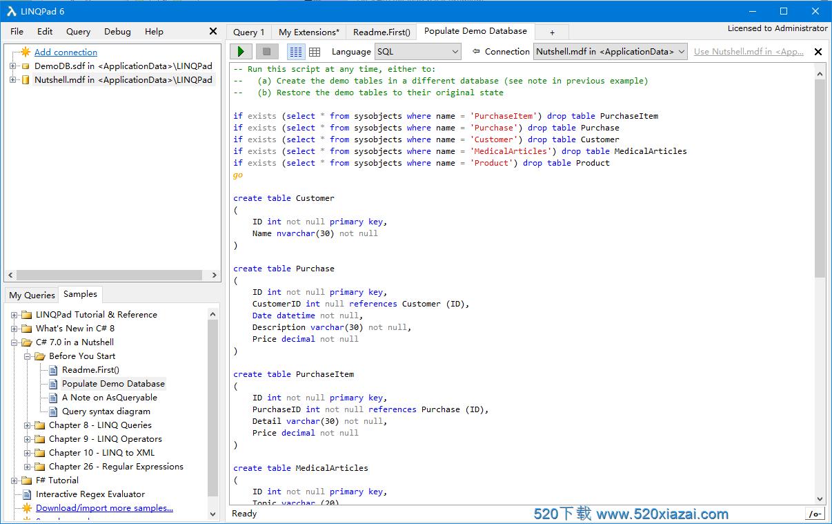 LinqPad6.11.11 linq调试神器
