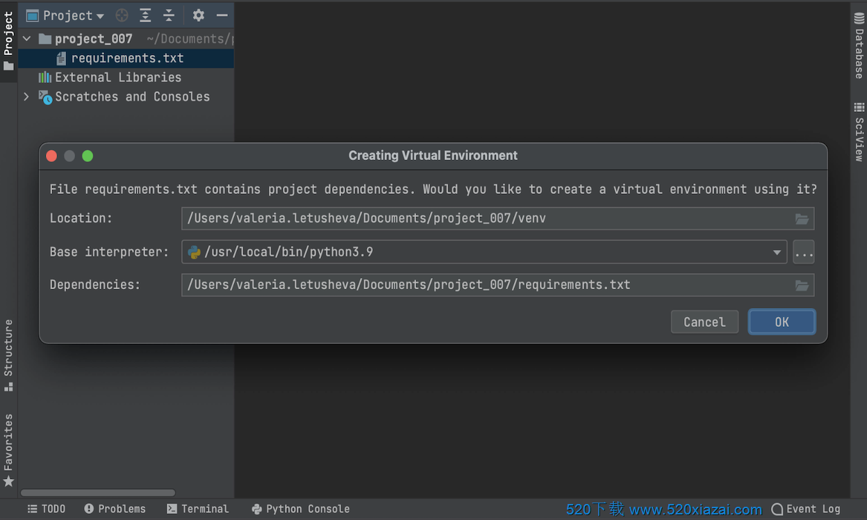 PyCharm2020.3.1 mac Jetbrains