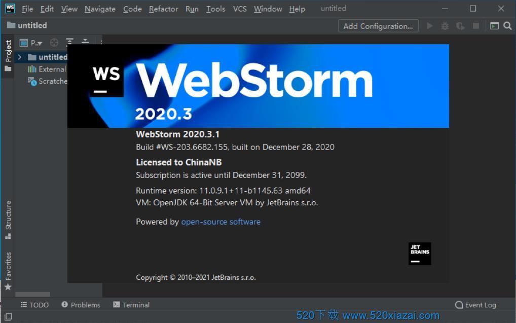WebStorm2020.3.1 WebStorm2020.3.1破解版